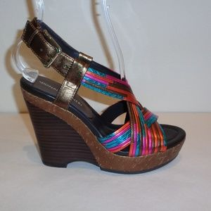 Donald J Pliner Size 6.5 M DORIS New Wedge Sandals